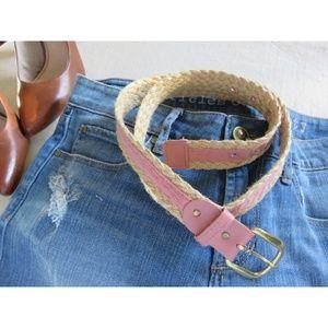 Vintage Trending Woven Braid Raffia Skinny Belt